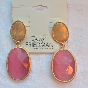Rivka Friedman 18k gold-clad earrings